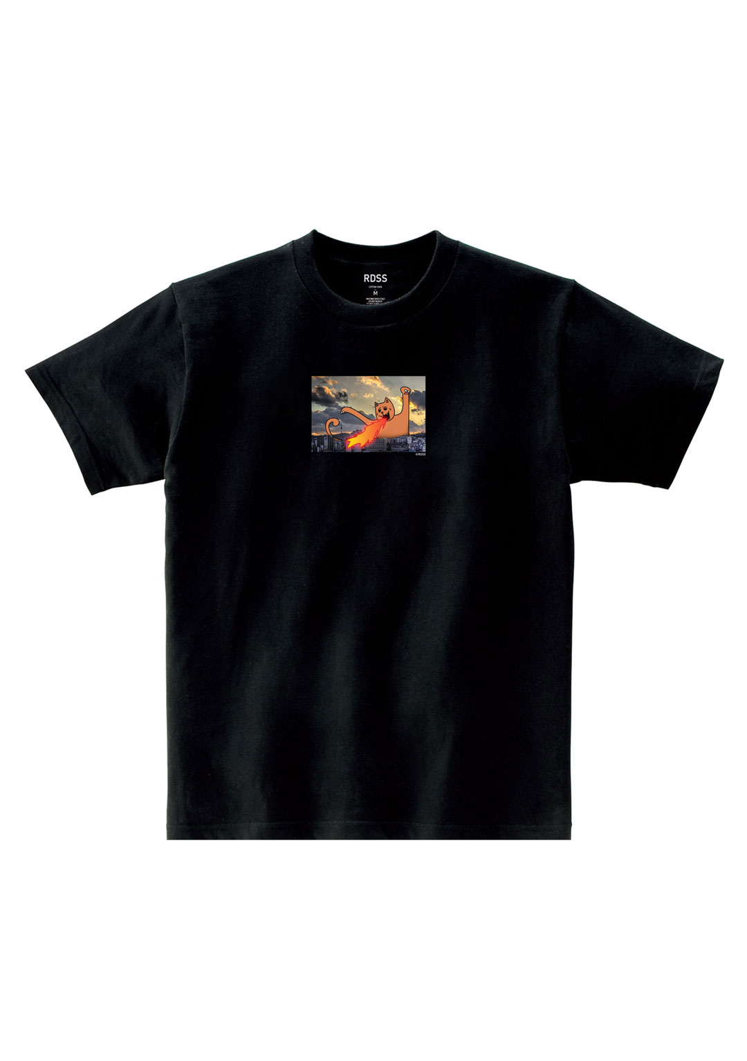 RDSS Fire Cat T-Shirt (Black)