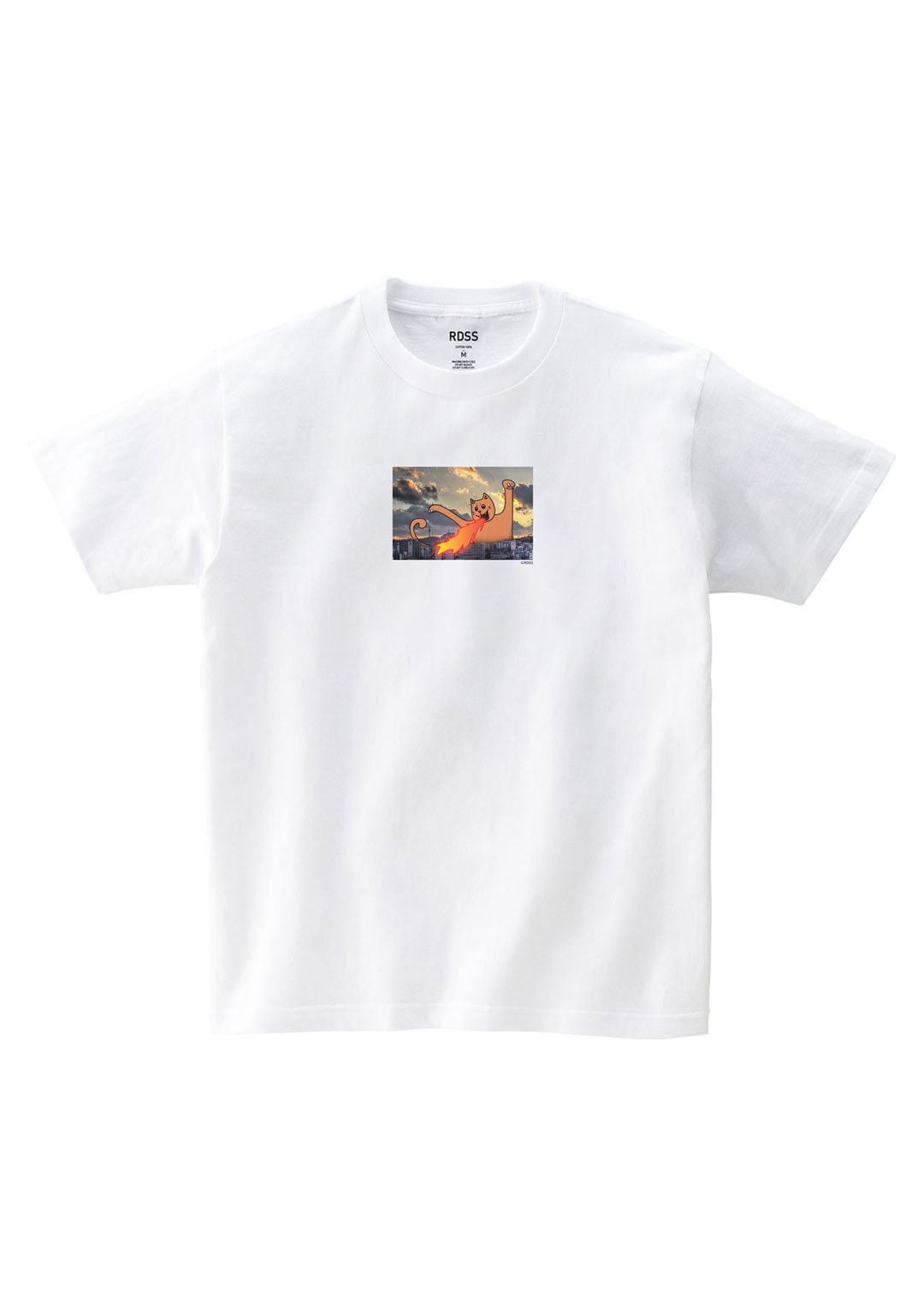 RDSS Fire Cat T-Shirt (White)