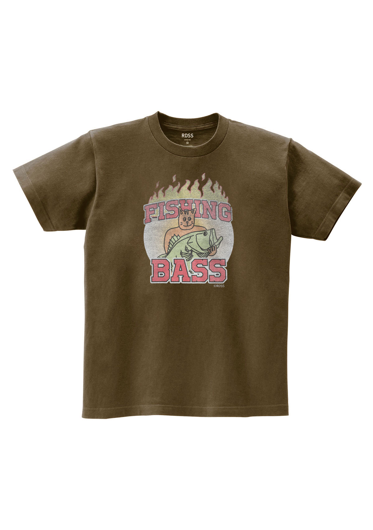 RDSS Bass Cat T-Shirt (Khaki Brown)