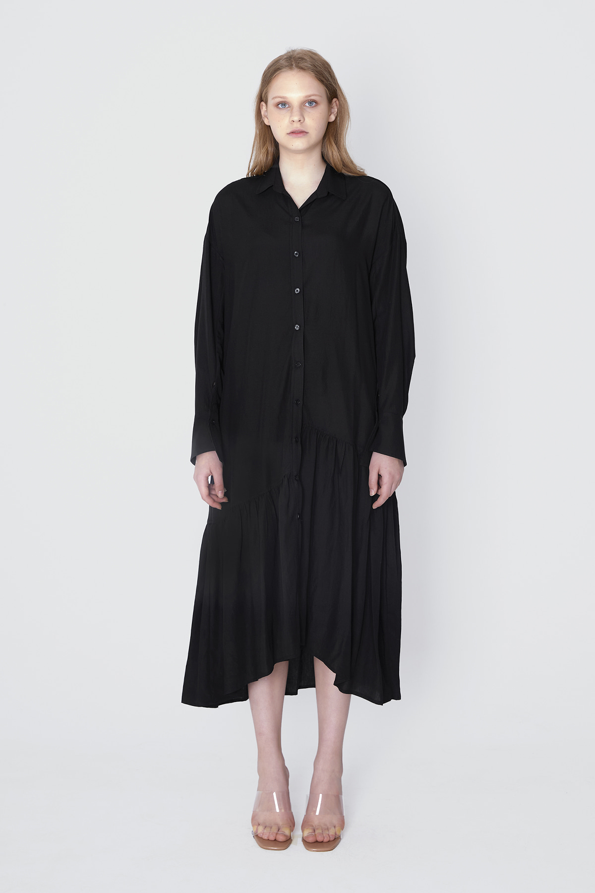 POOCION Flare Line Dress (Black)