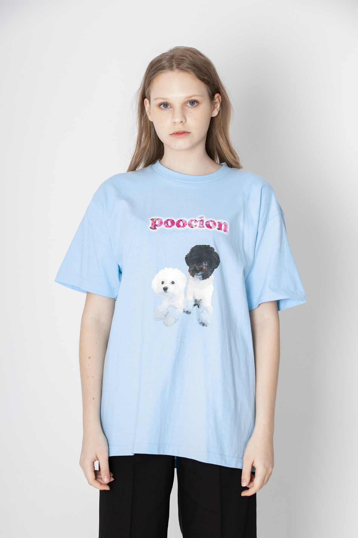 POOCION Twin T-shirt (Sky Blue)